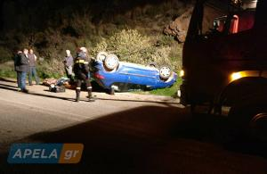 Λακωνία: Το ασθενοφόρο καθυστέρησε μία ώρα – Εγκλωβίστηκε οδηγός στο αυτοκίνητό του [pics]