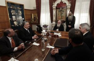 Συνάντηση του Αρχιεπισκόπου με τους προέδρους των Λαϊκών Αγορών [pics]