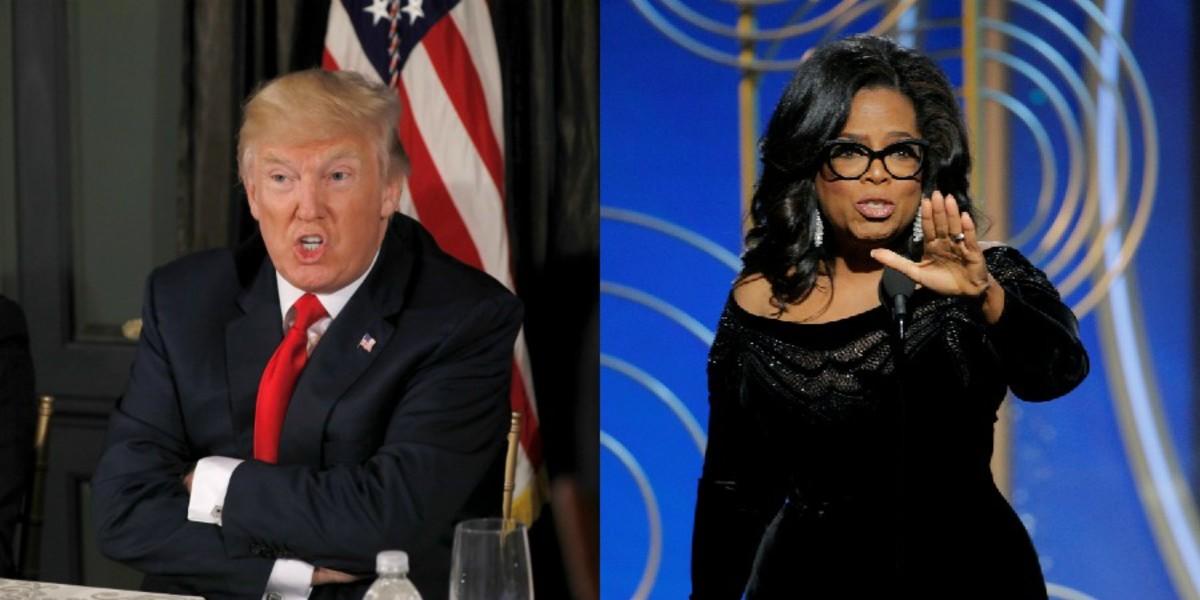 """Τραμπ: """"Αγαπάω"""" την Όπρα Ουίνφρεϊ αλλά """"θα την κέρδιζα"""" σε μια εκλογική αναμέτρηση"""