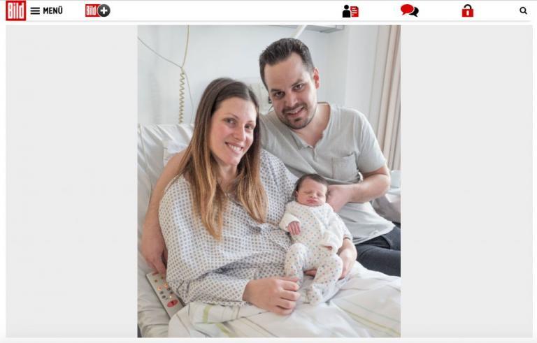 Ο… Έλληνας Φίλιππος το πρώτο μωρό του 2018 στο Βερολίνο