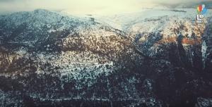 """Η Πάρνηθα στα """"λευκά""""! Εντυπωσιακό βίντεο από drone"""