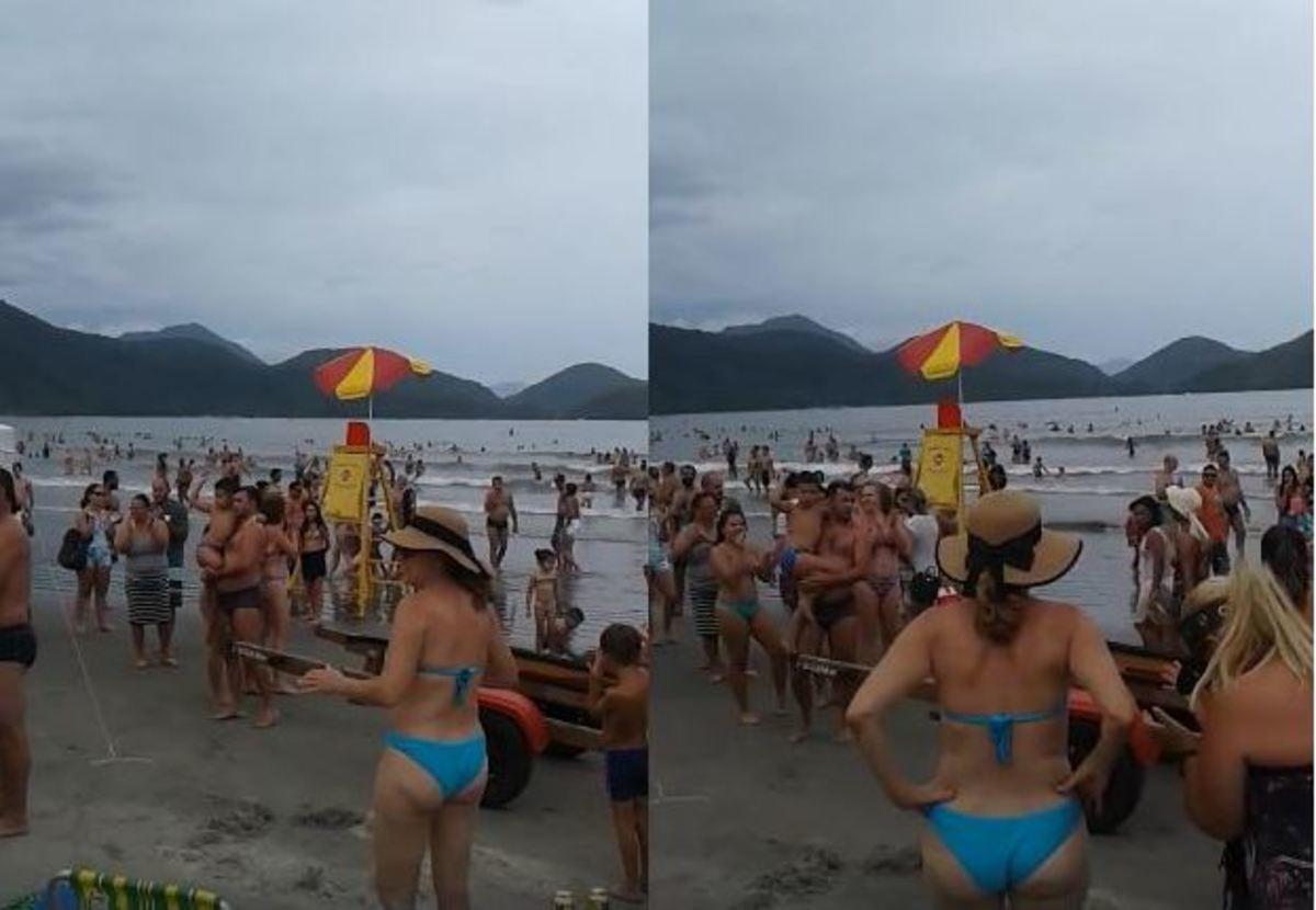 Όλοι στην παραλία άρχισαν να χειροκροτούν – Ο λόγος συγκινεί