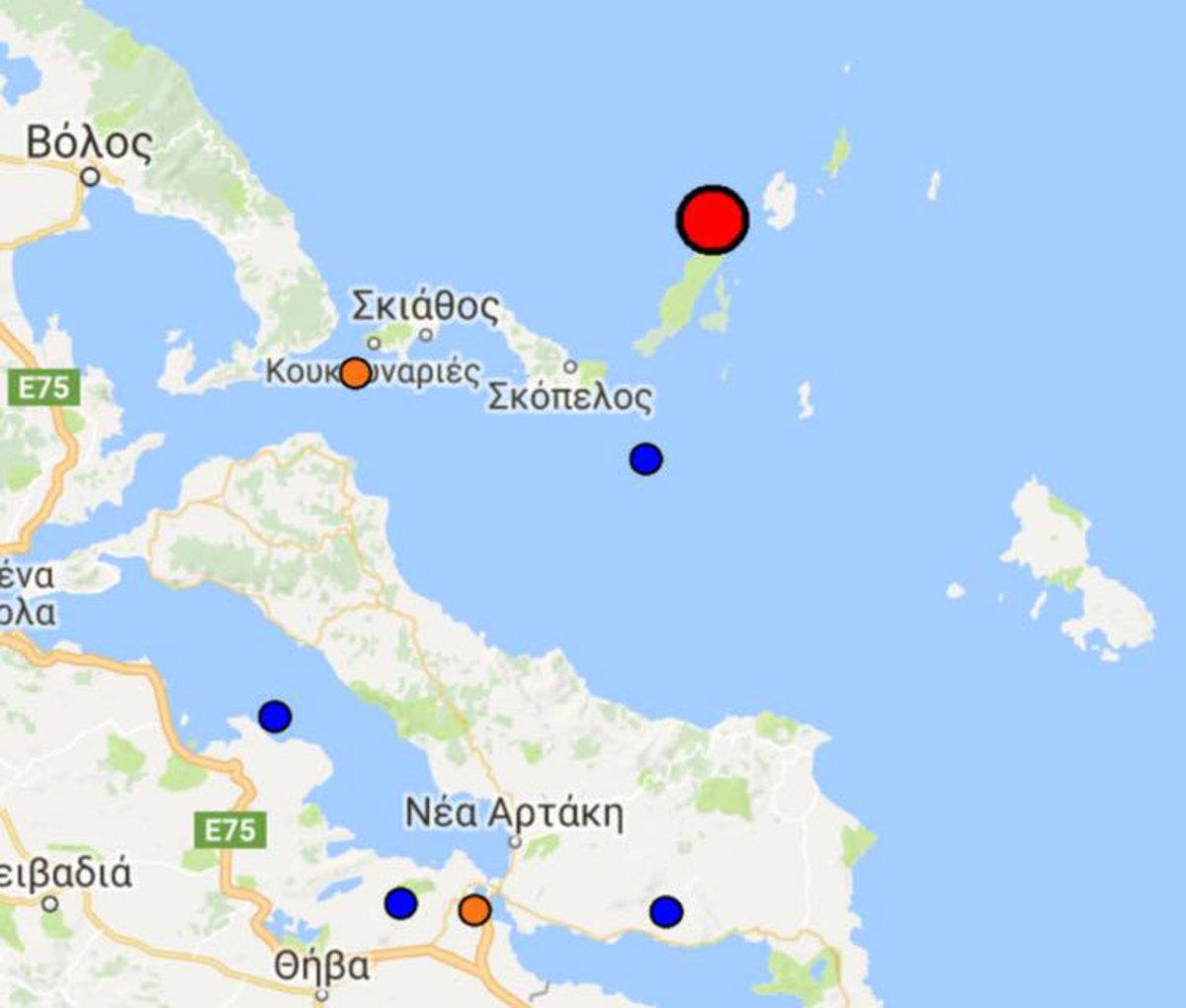 σεισμός Αλόννησος
