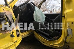 Πύργος: Το αυτοκίνητο κατέληξε σε αυλή σπιτιού – Σώθηκε από θαύμα ο νεαρός οδηγός του [pics]