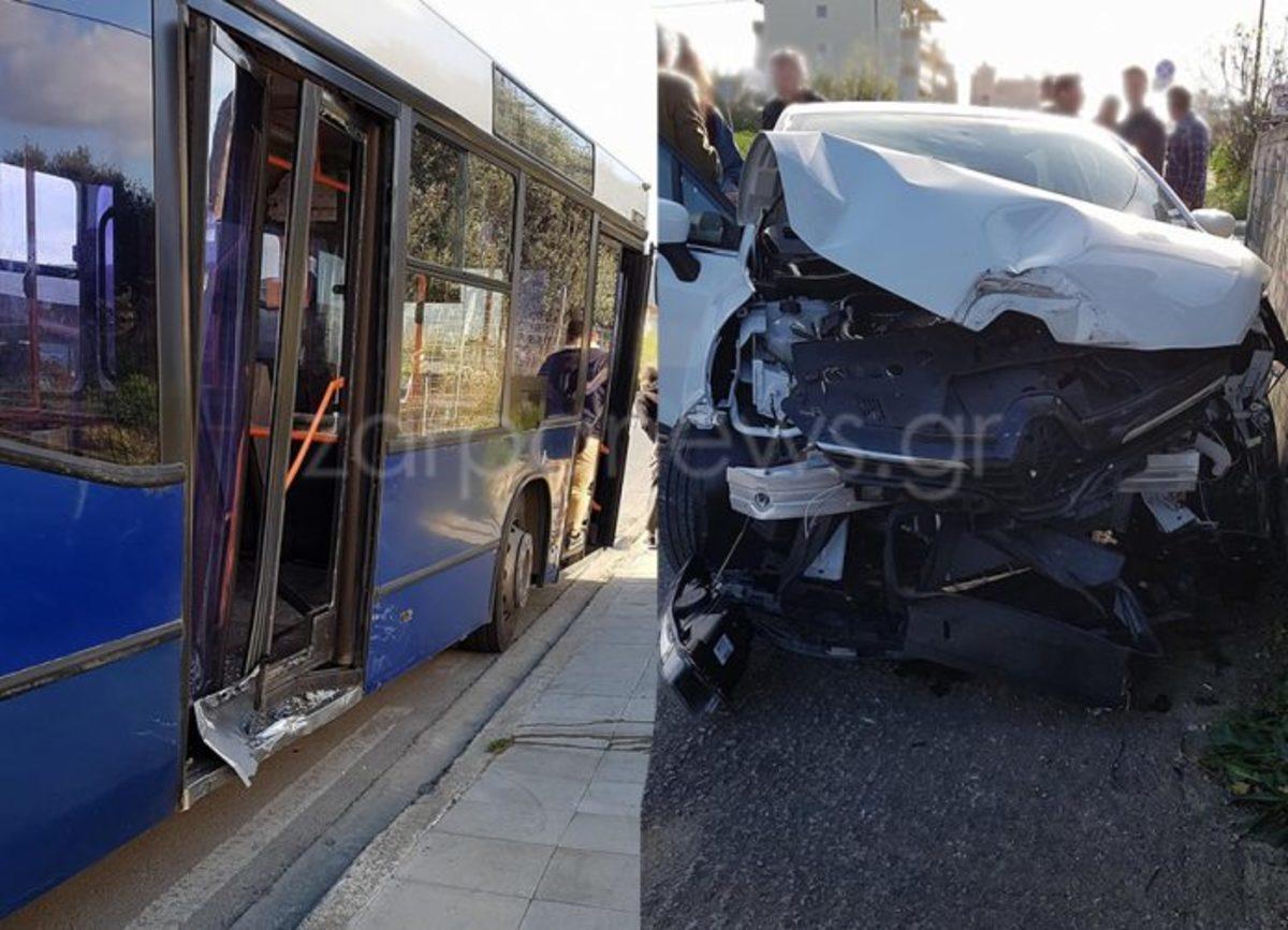 Χανιά: Λαχτάρα για μαθητές από σύγκρουση λεωφορείου με αυτοκίνητο – Αυτοψία στο σημείο του τροχαίου [pics]