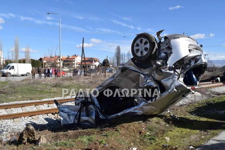 Φλώρινα: Ένας νεκρός και ένας τραυματίας από τη σύγκρουση αυτοκινήτου με τρένο – Αυτοψία στο σημείο της τραγωδίας [pics]
