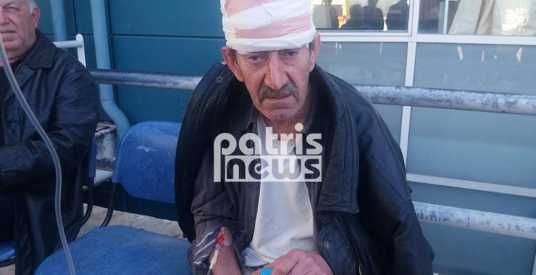 Σοκ στον Πύργο: Θύμα άγριας επίθεσης ο «Ανδρέας ο άνεργος» – Του άνοιξαν το κεφάλι με αξίνα
