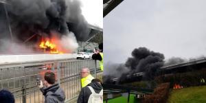 Χάος στο αεροδρόμιο Στάνστεντ από φλεγόμενο λεωφορείο! Ξεκίνησαν και πάλι οι πτήσεις