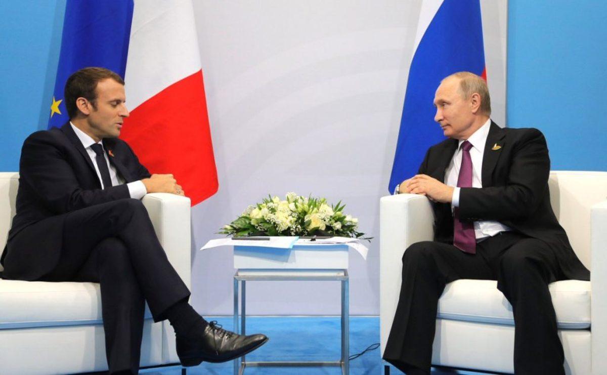 Ευχές Μακρόν σε Πούτιν για την επανεκλογή του