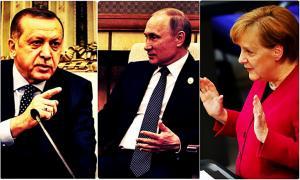 """Έξαλλη Μέρκελ με Ερντογάν – Πούτιν! """"Άμαχοι πεθαίνουν και απλώς παρακολουθείτε""""!"""