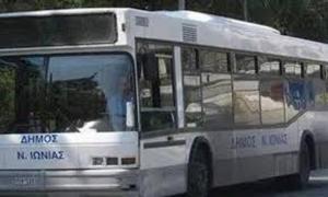 Νέα Ιωνία: Βανδαλισμοί και καταστροφές στα δημοτικά λεωφορεία