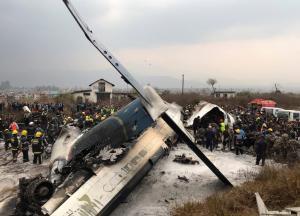 Αεροπλάνο συνετρίβη στο διεθνές αεροδρόμιο του Κατμαντού