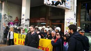 """Πλειστηριασμοί: """"Οχυρό"""" συμβολαιογραφείο στα Εξάρχεια – Ισχυρές δυνάμεις των ΜΑΤ"""