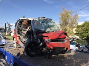 Αυτοκίνητο έπεσε στις γραμμές του Ηλεκτρικού