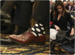 Θεσσαλονίκη: Οι πουά κάλτσες του Μπουτάρη και η εντυπωσιακή Αχτσιόγλου!