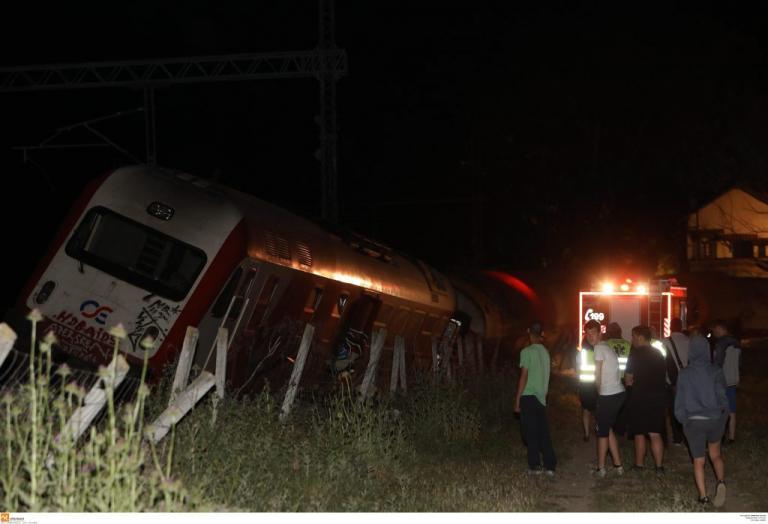 Εκτροχιάστηκε τραίνο στην Κατερίνη!
