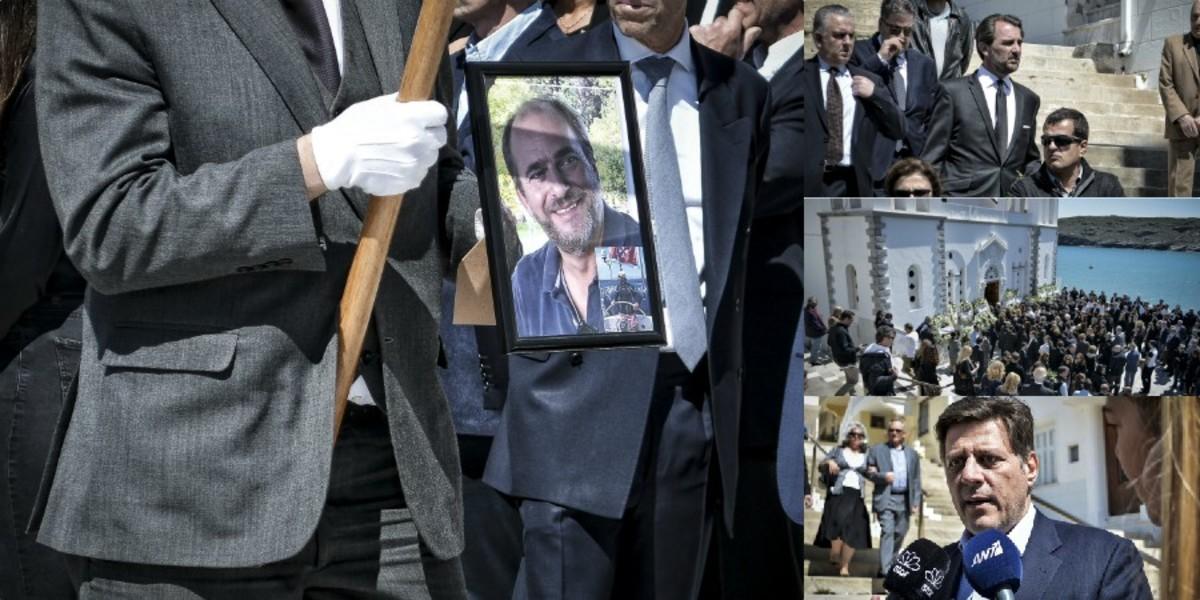 Άνδρος: Σπαραγμός στην κηδεία του Αλέξανδρου Σταματιάδη – Τραγικές φιγούρες η σύζυγος και τα παιδιά του [pics]