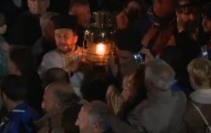 """Στο Μετόχι του Παναγίου Τάφου το Άγιο Φως – Έφτασε με καθυστέρηση στο """"Ελευθέριος Βενιζέλος"""""""