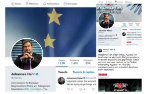 Τούρκοι χάκαραν το προφίλ του Γιοχάνες Χαν στο Twitter! [pics]