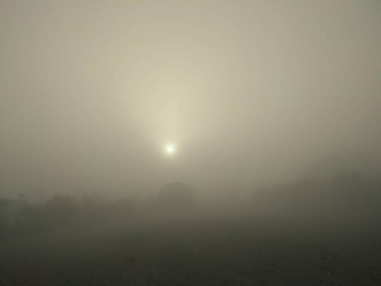 Τοπίο στην ομίχλη το Ηράκλειο [pics]