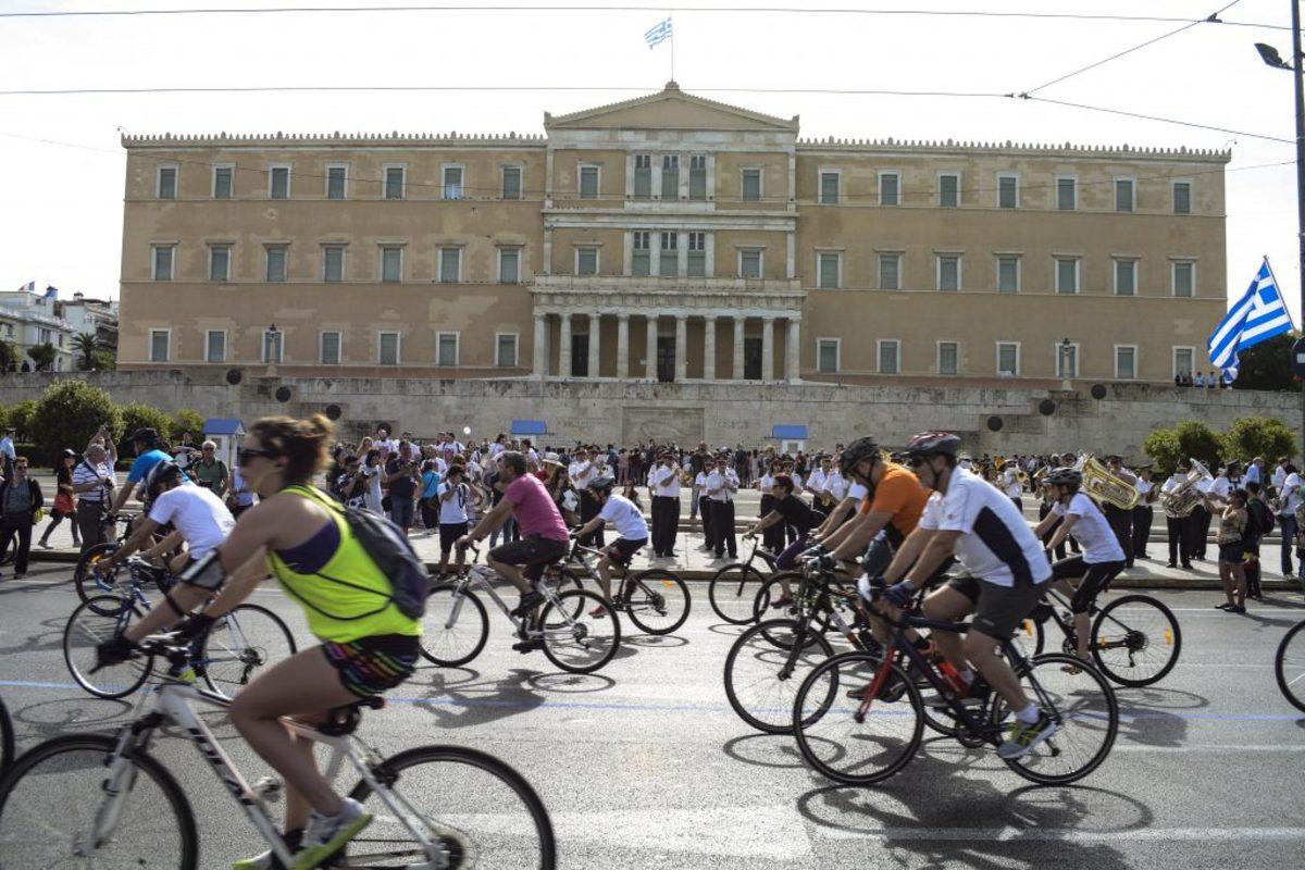 κυκλοφοριακές ρυθμίσεις 25ος ποδηλατικός γύρος Αθήνας
