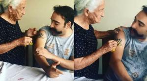 Μητέρα προσπαθεί μάταια να σβήσει με σφουγγάρι το τατουάζ του γιου της…