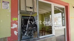 Αυλίδα: Ανατίναξαν ΑΤΜ έξω από φούρνο [pics]