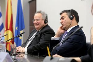 Σκοπιανό: Από μια κλωστή κρέμεται η συμφωνία – Χωρίς δηλώσεις έληξε η συνάντηση Κοτζιά – Ντιμιτρόφ
