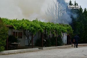 Αργολίδα: Φωτιά σε χώρο μεταφορικής εταιρείας [vid]