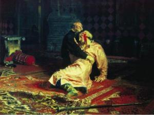 """Αδιανόητο! Βανδάλισε τον """"Ιβάν τον Τρομερό και τον γιο του""""! [vid, pics]"""