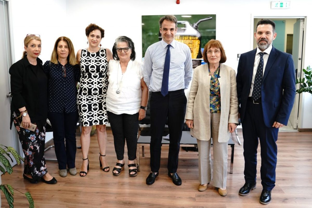 Συνάντηση Μητσοτάκη με την Ελληνική Ομοσπονδία Καρκίνου