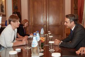 Συνάντηση Μητσοτάκη με την πρόεδρο της Εσθονίας [pics]