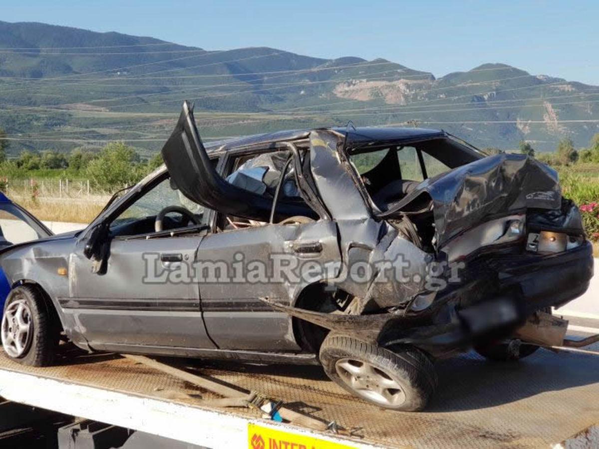 Λαμία: Έζησε τον τρόμο αλλά βγήκε ζωντανός – Εφιάλτης στο τιμόνι για τον οδηγό του αυτοκινήτου [pics]