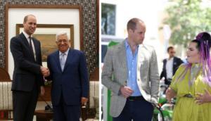 Πρίγκιπας Γουίλιαμ: Συνάντησε τον πρόεδρο Αμπάς και τη νικήτρια της Eurovision