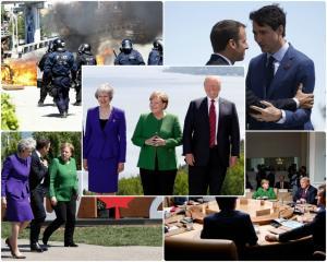 """Καναδάς – G7: """"Όμηροι"""" αλλά… στα μέλια οι ισχυρότεροι του κόσμου! [vids, pics]"""
