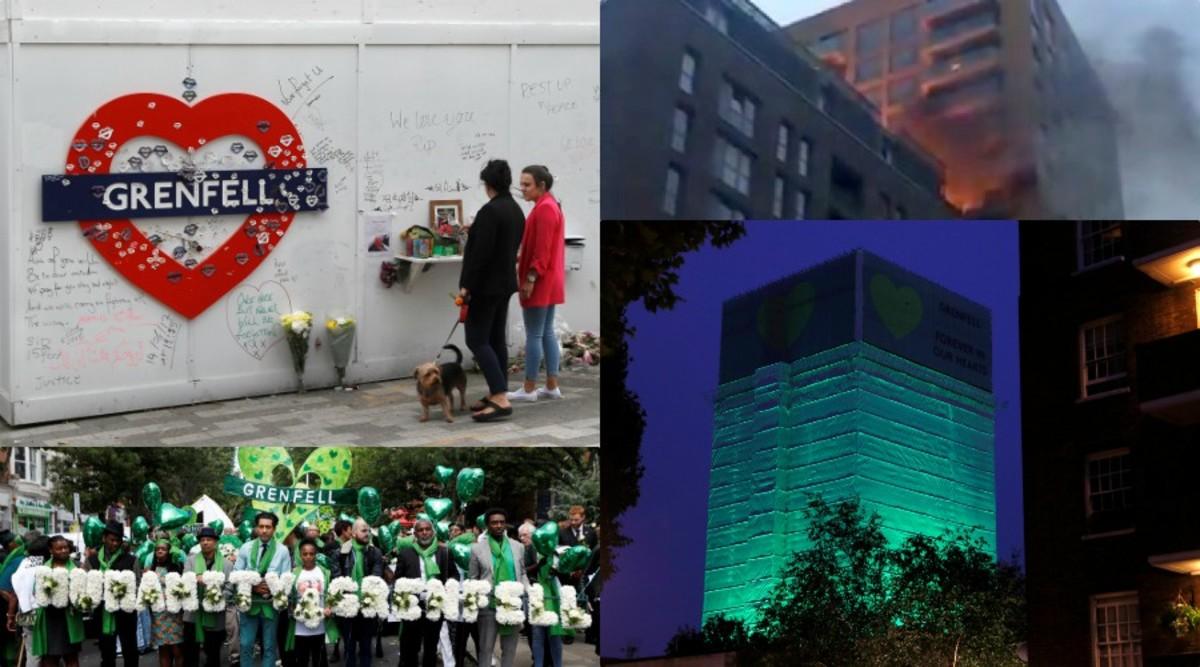 """Ένα χρόνο από την πύρινη κόλαση του Πύργου Γκρένφελ! Δάκρυα, λευκά λουλούδια και αμέτρητα γιατί για την τρομερή τραγωδία! Ο συμβολισμός του """"πράσινου"""" [pics, vids]"""