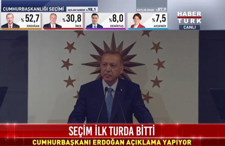 Εκλογές στην Τουρκία LIVE: Οι πρώτες δηλώσεις Ερντογάν μετά το θρίαμβο!