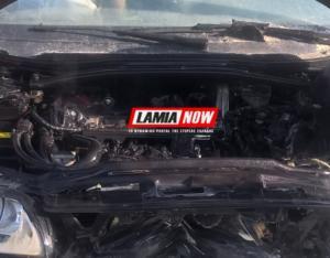 Τροχαίο Αθηνών – Λαμίας: Αυτοκίνητο χτύπησε στις μπάρες και έπιασε φωτιά – Σώος ο οδηγός του [pic]