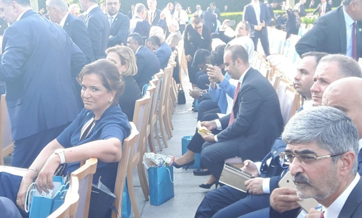 Η Ντόρα Μπακογιάννη στην ορκωμοσία του Ερντογάν [pics]