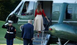 Μελάνια Τραμπ: Αέρινη και φλογερή! Χέρι – χέρι με τον Ντόναλντ – video