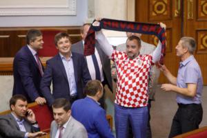 """Μουντιάλ 2018: Ουκρανικό """"ντου"""" στην σελίδα της FIFA! Με φανέλα της Κροατίας στη βουλή"""
