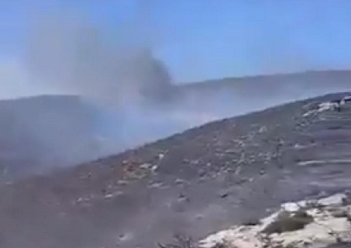 Μάχη με τη μεγάλη φωτιά στην Κρήτη δίνουν οι πυροσβέστες – video