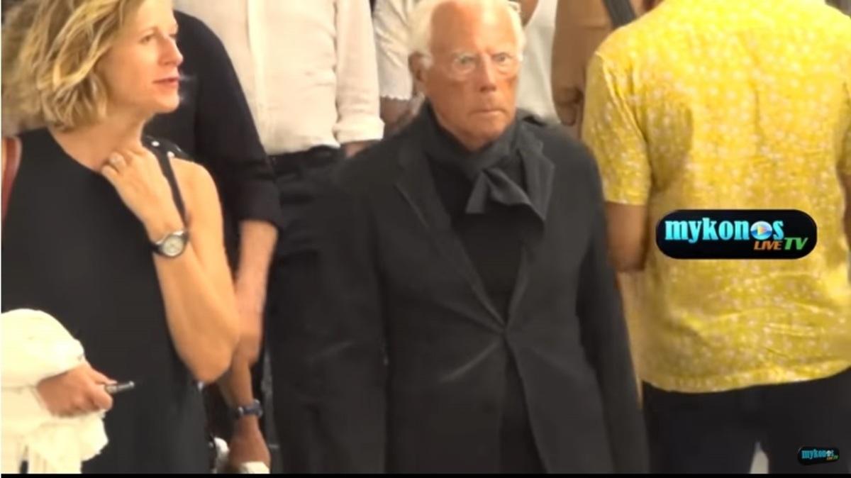 Στη Μύκονο ο Giorgio Armani – video