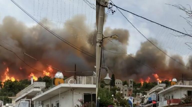 Συναγερμός! Νέα φωτιά στην Αττική σε κατοικημένη περιοχή! Καίγεται ο Κάλαμος – video