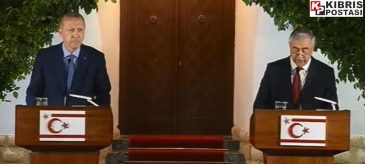 Ερντογάν: Αποθέωση στα κατεχόμενα για τον «Σουλτάνο» – Συνάντηση με Ακιντζί [vid]