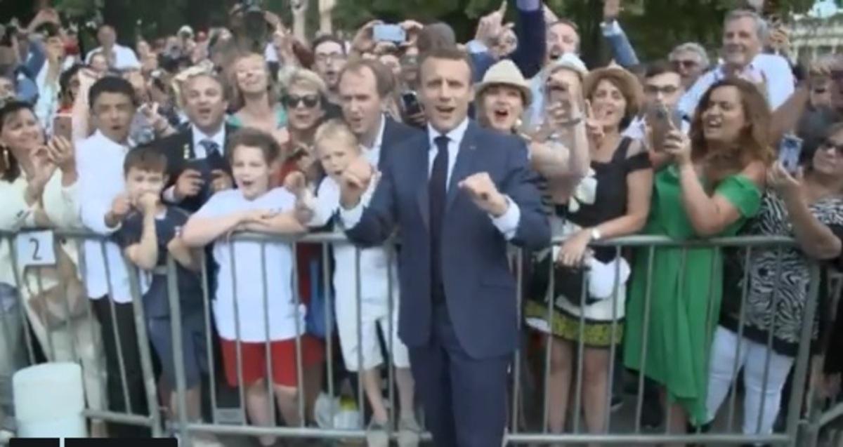 Μουντιάλ 2018: Ένα με τον κόσμο ο Μακρόν! Το μήνυμα του προέδρου της Γαλλίας για τον τελικό – video