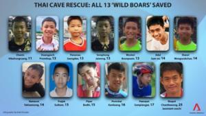 Ταϊλάνδη: Αυτοί είναι οι 13 ήρωες που βγήκαν σώοι από το σπήλαιο