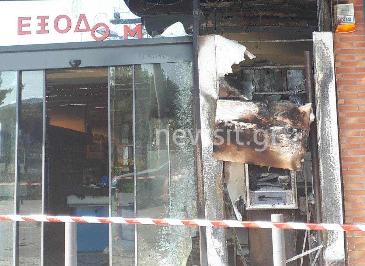 Έκρηξη σε ΑΤΜ στο Πόρτο Ράφτη [pics]
