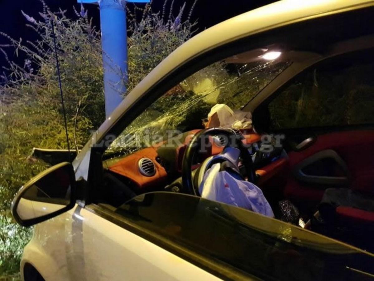 Λαμία: Εφιάλτης στο τιμόνι για άτυχη οδηγό – Έζησε εγκλωβισμένη τα δευτερόλεπτα του απόλυτου τρόμου [pics]