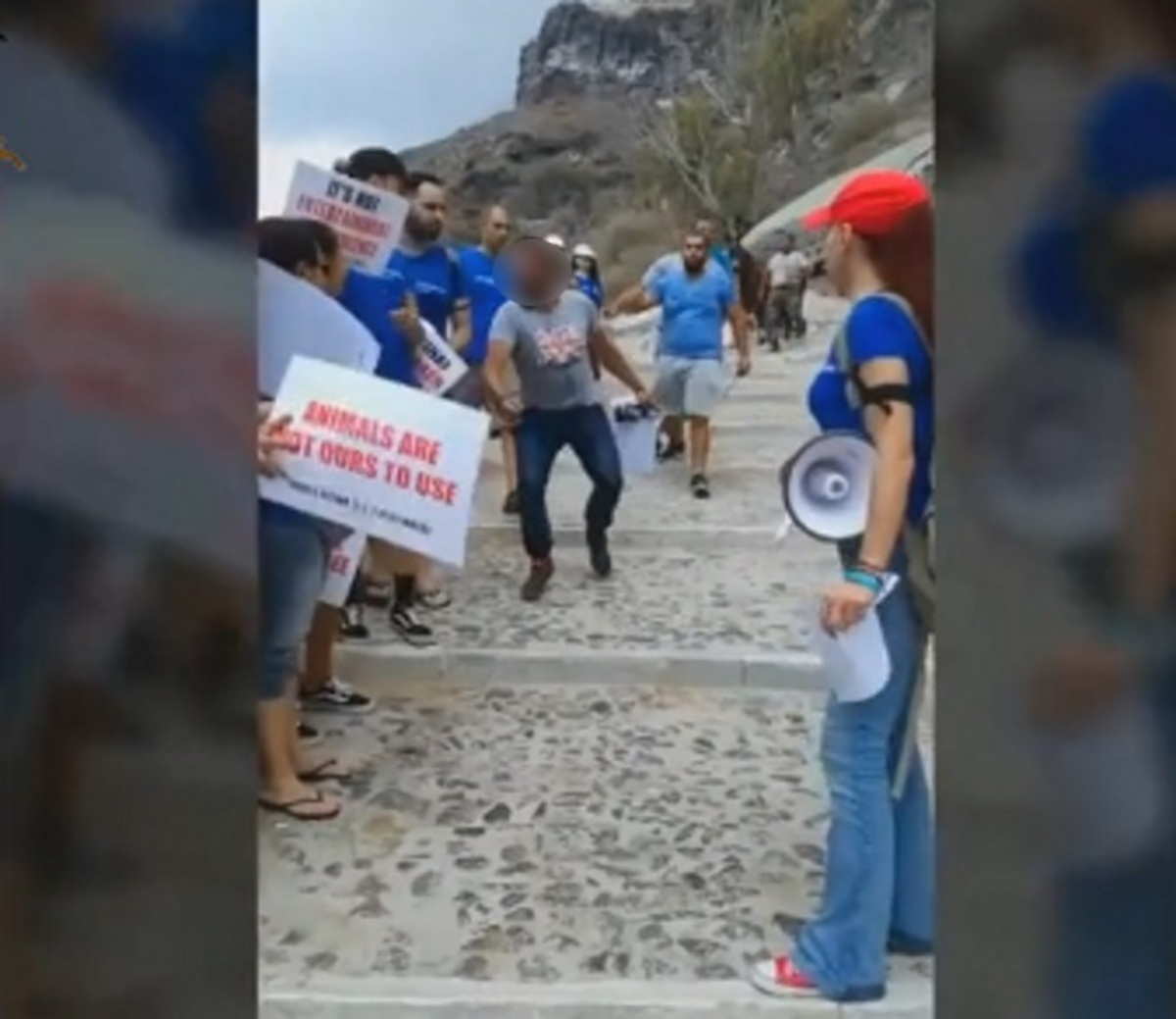 Σαντορίνη: Πλάκωσαν στο ξύλο φιλόζωους στην καλντέρα για τα γαϊδουράκια – Χαμός στα Φηρά – video